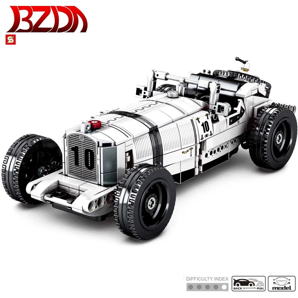 BZDA  High Tech Roadster Building Blocks  Pull Back Car SSK  Speed Champion  Toys Creator  Vehicle Bricks  Kids  Gift  DIY