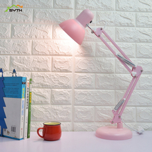 LED long arm college dormitory desk lamp bedside eye protection learning folding small table lamp light touch switch table lamp цена