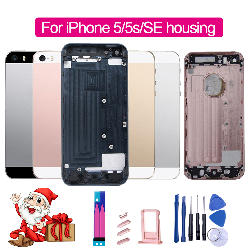 Housing-Assembly Back-Cover Customize iPhone 5 Chassis Metal-Frame-Battery IMEI for 5S
