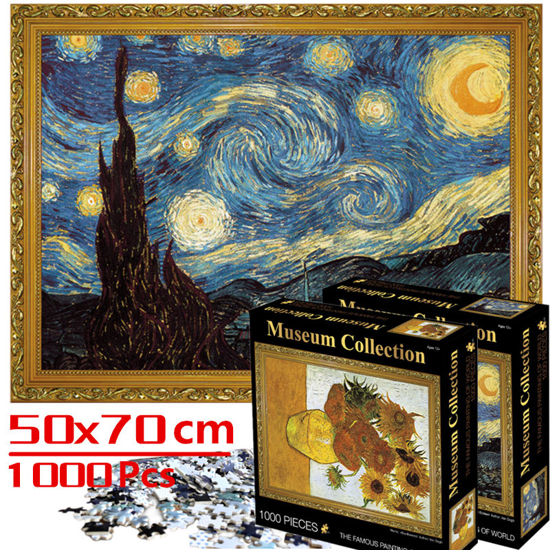 70*50 cm jigsaw puzzles 1000 pieces Assembling picture Landscape puzzles toys for adults games educational Montessori Toys 1