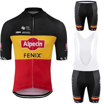 Conjunto de Jersey de ciclismo del equipo Alpecin FENIX, ropa de ciclismo...
