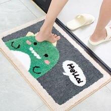 Экологически чистый моющийся коврик для ванной милый мультяшный