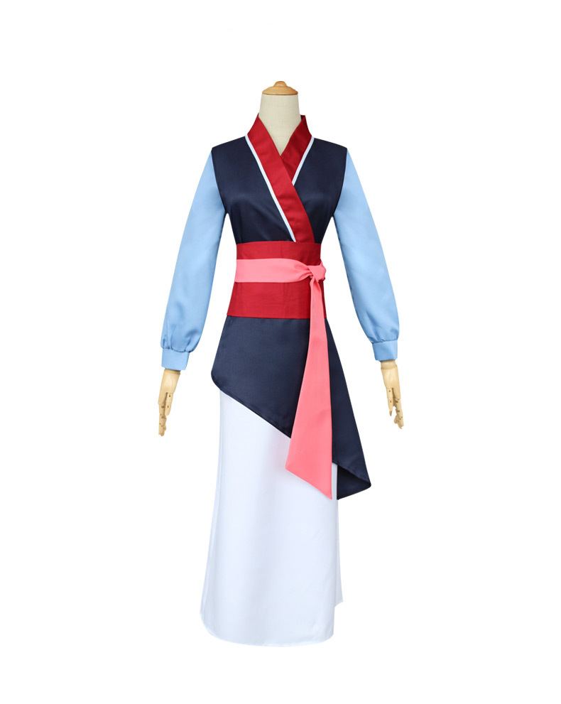 Movie Mulan Cosplay Women Girls Costume Ancient Costume Mulan Princess Carnival Party Dress Performance Costume