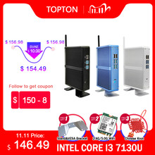Mini PC sin ventilador i7 i5 7200U i3 7100U DDR4/DDR3 Win10 Pro Barebone Nuc, ordenador Win10 Pro Linux HTPC VGA HDMI WiFi Lan Gigabit