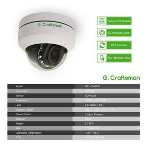 Image 2 - 5MP POE Mini PTZ IP Camera Dome H.265 Indoor 2.8 12mm 4X Optical Zoom IR 45M P2P CCTV Security Onvif Waterproof G.Craftsman