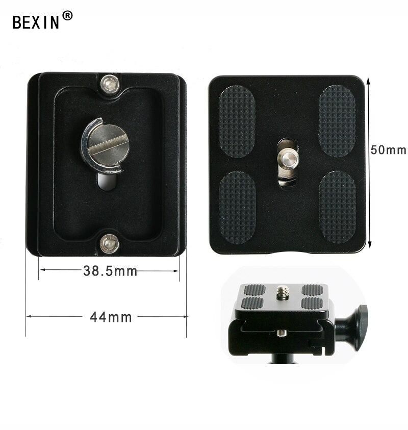 BEXIN QR50 штатив с шаровой головкой адаптер pu50 RRS quick shot быстросъемный зажим пластина зажим для Arca swiss dslr сферическая головка с камерой - Цвет: PU50 plate