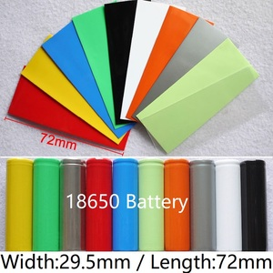 10pcs 18650 Lipo Battery PVC Heat Shrink Tube Width 29.5mm x 72mm Length Insulated Film Wrap Protect Case Pack Wire Cable Sleeve