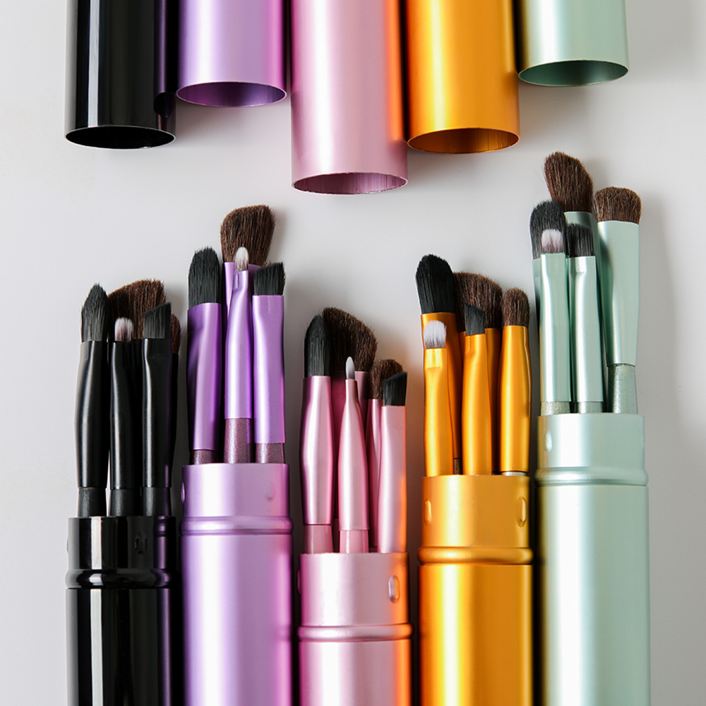 BBL 5pcs Travel Portable Mini Eye Makeup Brushes Set Smudge Eyeshadow Eyeliner Eyebrow Brush Lip Make