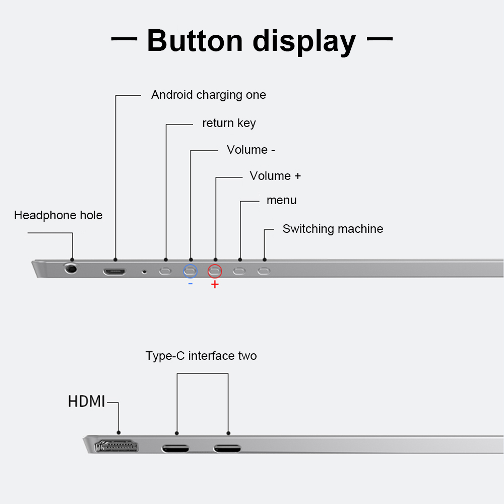 Image 5 - New 15.6 inch 9mm Ultra thin 4K HDR Touch Screen Display Portable Type C Phone Monitor HDMI for Switch/XBOX/PS4 Laptop Desktop-in Laptop LCD Screen from Computer & Office