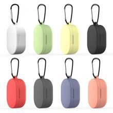 Earphone Case for Xiaomi MI Redmi AirDots Headphones Cover TWS Bluetooth Earphone Wireless Headset Shell with Hook