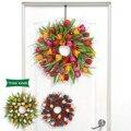 Искусственная Длинная гирлянда из листьев тюльпана, настенное украшение для двери и дома, аксессуары для двери, 17 дюймов