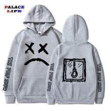 Harajuku Men Hip Hop Sad expression letter printing hoodie men Streetwear Casual Pullover Sweatshirt sudadera hombre(China)