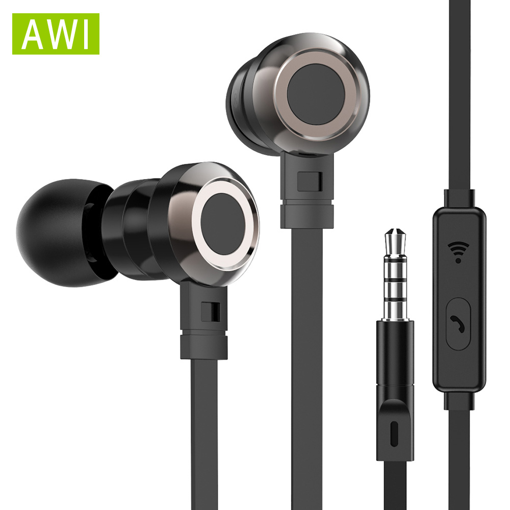 AWI P5 Stereo Kopfhörer mit Mic Gaming Headsets Sport Earbuds fone de ouvido Hifi Wired Kopfhörer für Telefon Iphone <font><b>Xiomi</b></font> oppo image