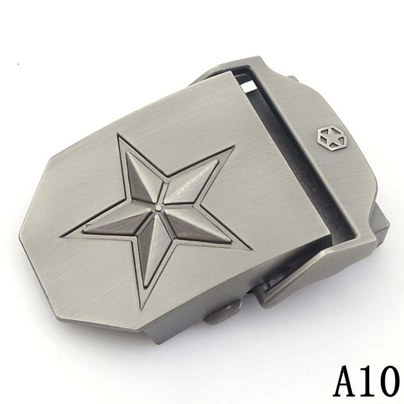 Canvas Belt Buckle For Men Automatic Strap Suitable Military Tactical Body Wide 3.8cm Waist Tape Buckle Accessories 25 Style