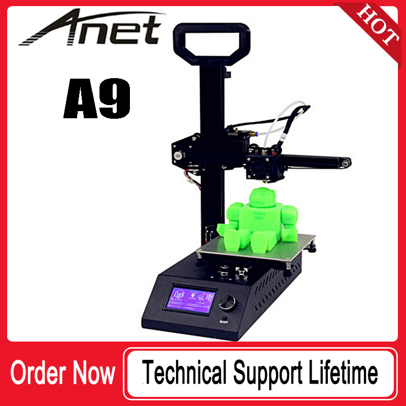 Imprimante 3D Anet A9/taille d'impression 220*220*240/matériau PLA/bon service/expédition depuis la russie