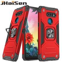 Shockproof Protective Case For LG K40 K12Plus K50S K51 K30 Armor Ring Bracket Phone Case For LG K31 K61 K40S K51S K22 K52 K92 5G