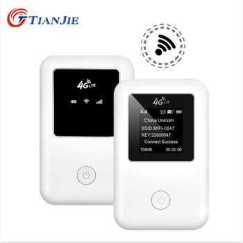 цена на TIANJIE 3G 4G mifi router High Speed unlocked wifi modem router GSM UMTS WCDMA LTE FDD TDD sim card car wifi Pocket 4G Hotspot