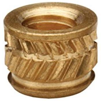Tuerca de inserción de bronce IUB-0616, Tuercas moleteadas, Insertos roscados de tuerca de cobre a través de Insertos, Insertos moleteados estándar PEM