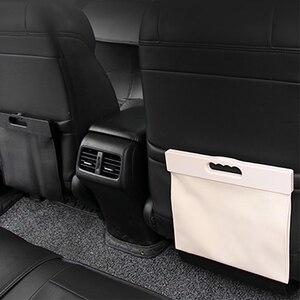 Image 3 - Car Trash Can Garbage Bag Hanging Seat Behind Row Storage Bag Interior Supplies