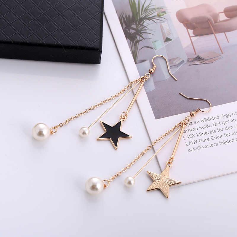 New black star temperament pearl earrings jewelry female wholesale
