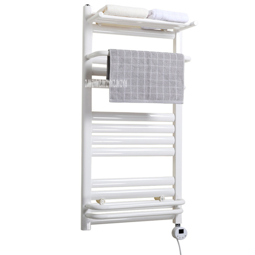 QSBL-01 Towel Warmer Low-Carbon Steel Heated Towel Rail Constant Temperature Electric Heating Drying Towel Rack 110V/220V