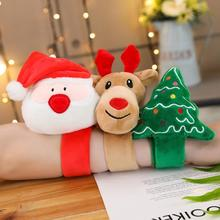 1PC Cute Santa Clap Bracelet Elk Bracelet For Kids Christmas Gift Toys Cute Santa Claus Clap Bracelet Bracelet Christmas  Gift new alloy gorgeous fashion christmas theme snowman cane santa claus color pendant bracelet bracelet christmas best gift jewelry
