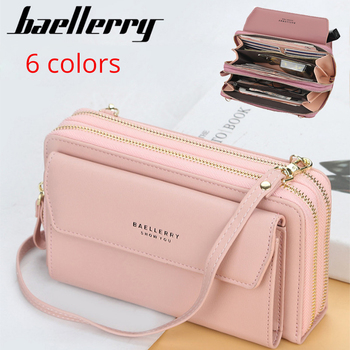 Baellerry Women Wallet Double Zipper Summer Female Shoulder Bag Top Quality Cell Phone Pocket Bags Fashion Crossbody Bags 1