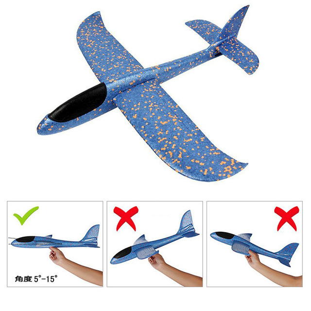 Glider plane  Model Toy Gliding Airplane kid Hand Throw Airplane Outdoor Launch Glow Glider Plane Kids Gift Toy Interesting Toys 2