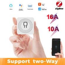 Tuya ZigBee 3.0 Smart Light Switch Module DIY Breaker Supports 2 Way Control APP Voice Control Via Alexa Google Home Smart Life