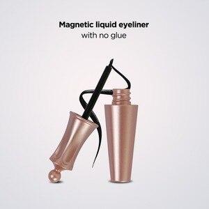 Черный водонепроницаемый Магнит подводка для глаз жидкая долговечная не Цветущая легко наносится подводка для глаз косметический инструм...