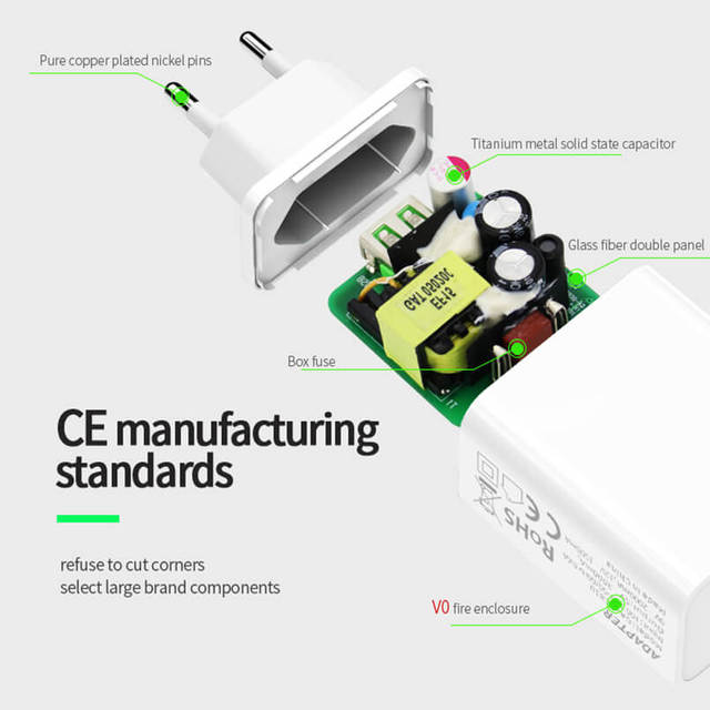 Hannord Quick Charge QC 3 0 18W EU Plug USB Charger QC3 0 Fast Wall