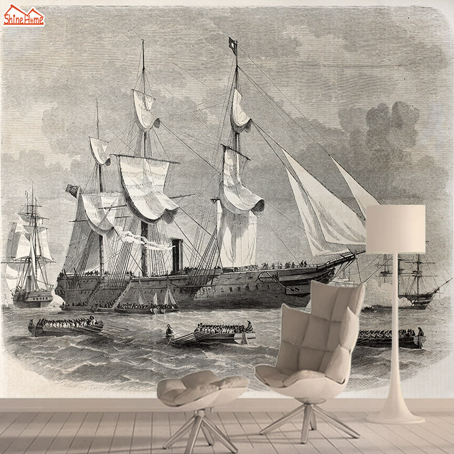 Contact Paper 3d Wallpaper Mural Wallpapers For Living Room Wall Paper Papers Home Decor Sailing Boat Self Adhesive Walls Roll