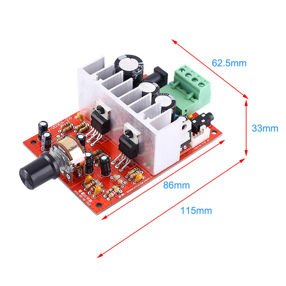 DC 12 V-24 V TDA2030 Bluetooth Speaker MP3 Decoder Power Amplifier Papan Pemutar Musik Diy Dimodifikasi Subwoofer