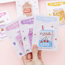 1X Cute Beverage shop series weekly plan Sticky Notes Post Memo Pad kawaii stationery School Supplies Planner Stickers Paper kawaii cute weekly plan paper scrapbooking stickers sticky note stationery school supplies memo pad papelaria notebook notepad