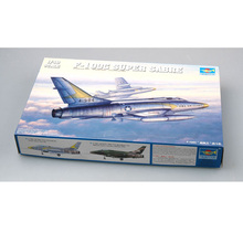 Trumpeter 1/48 Scale US F-100C F-100D F-100F Super Sabre Fighter Plane Airplane Aircraft Toy Plastic Assembly Model Kit стоимость