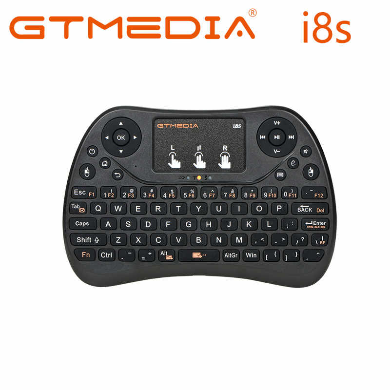 Gtmedia I8S Backlit 2.4G Draadloos Toetsenbord Air Mouse Engels Russische Touchpad Handheld Voor Android Tv Box T9 H96 Max plus