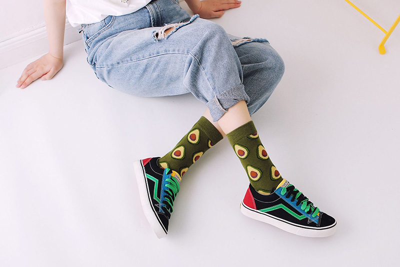 H8bc088393d754c5eb6823c0ed82cfce6g - Women Happy Funny Socks With Print Art Cute Warm Winter Socks With Avocado Sushi Food Cotton Fashion Harajuku Unisex Sock 1 Pair