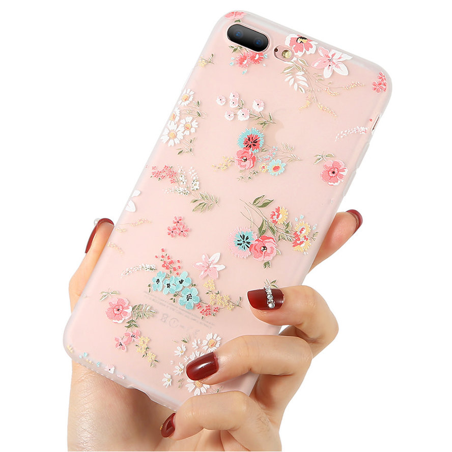 LCHULLE 3D Flower Silicone Case for Samsung Galaxy S20 Ultra S10 S9 S8 Plus Fashion Floral Slim Soft Phone Back Cover Coque Etui