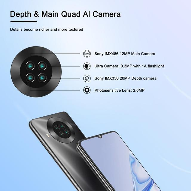 CUBOT Note 20 Mobile Phone  6.5″ HD Display 4200mAh Battery NFC Smart Phones Android 10.0 Rear Quad Camera Cellphones 64gb Rom 4