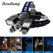 Dropshipping T6 R5 LED Headlamp 4 Mode Waterproof Hands-free Headlight Torch Flashlight For Biking Camping Hunting Hot Sale(China)