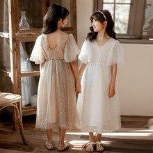 新 2020 夏メッシュキッズガールズドレス子供レースのドレスベビープリンセスドレス星子供キュートなドレスの結婚式、 #8011