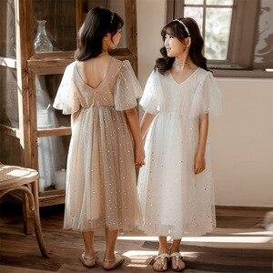 Image 1 - 새로운 2020 여름 메쉬 아이 소녀 드레스 아이들을위한 레이스 드레스 아기 공주 드레스 별 어린이 귀여운 드레스 웨딩, #8011