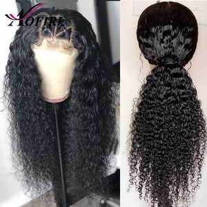 Image 5 - 150% Density Water Wave Indian Remy 13X6 Lace Front Human Hair Wigs With Baby Hair Bleached Knots Pre Plucked For Black Woman