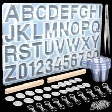 Цифры Алфавит силиконовые формы для изготовления смолы персонализированные