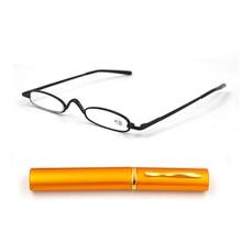 نظارات قراءة عالية الجودة ذات قصة ضيقة للغاية ، قارئ أنبوب صغير معدني ، 10 قطع شحن مجاني تشمل + 1.25 + 1.75 + 2.25 + 2.75