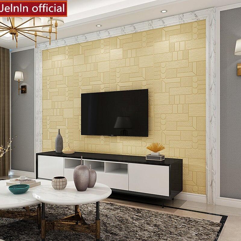 Rond rectangle motif 3D PE mousse stickers muraux salon chambre maternelle bureau restaurant boutique doux paquet papier peint - 5