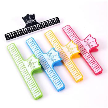 Multifunctional folder Music Sheet Clip Book Holder Music Score Fixed Clips For Guitar Violin Piano Player Office Supplies image