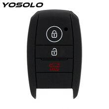YOSOLO yedek silikon anahtar çantası kapak koruyucu araba anahtar kovanı kia rio sportage 2014 ceed sorento cerato K2 K3 K4 K5