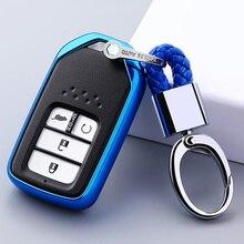 Für Honda Für Fit Für Civic Für HR V CRV Odyssey Accord 2013 2017 TPU Schwarz Auto Styling Remote Smart schlüssel Abdeckung Fob Fall Shell