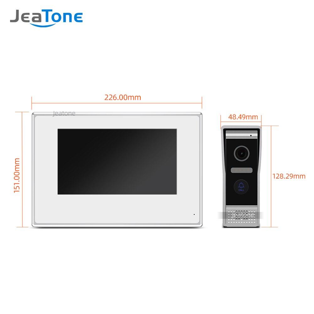 Купить с кэшбэком 7 inch White Color Touch Screen Villa WIFI IP Video Door Phone Intercom doorbell entry door phone door access control system